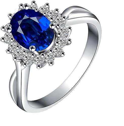 1 CT DIAMOND ENGAGEMENT Bridal RING 14K WHITE GOLD TONED Women/'s Ring Size 7