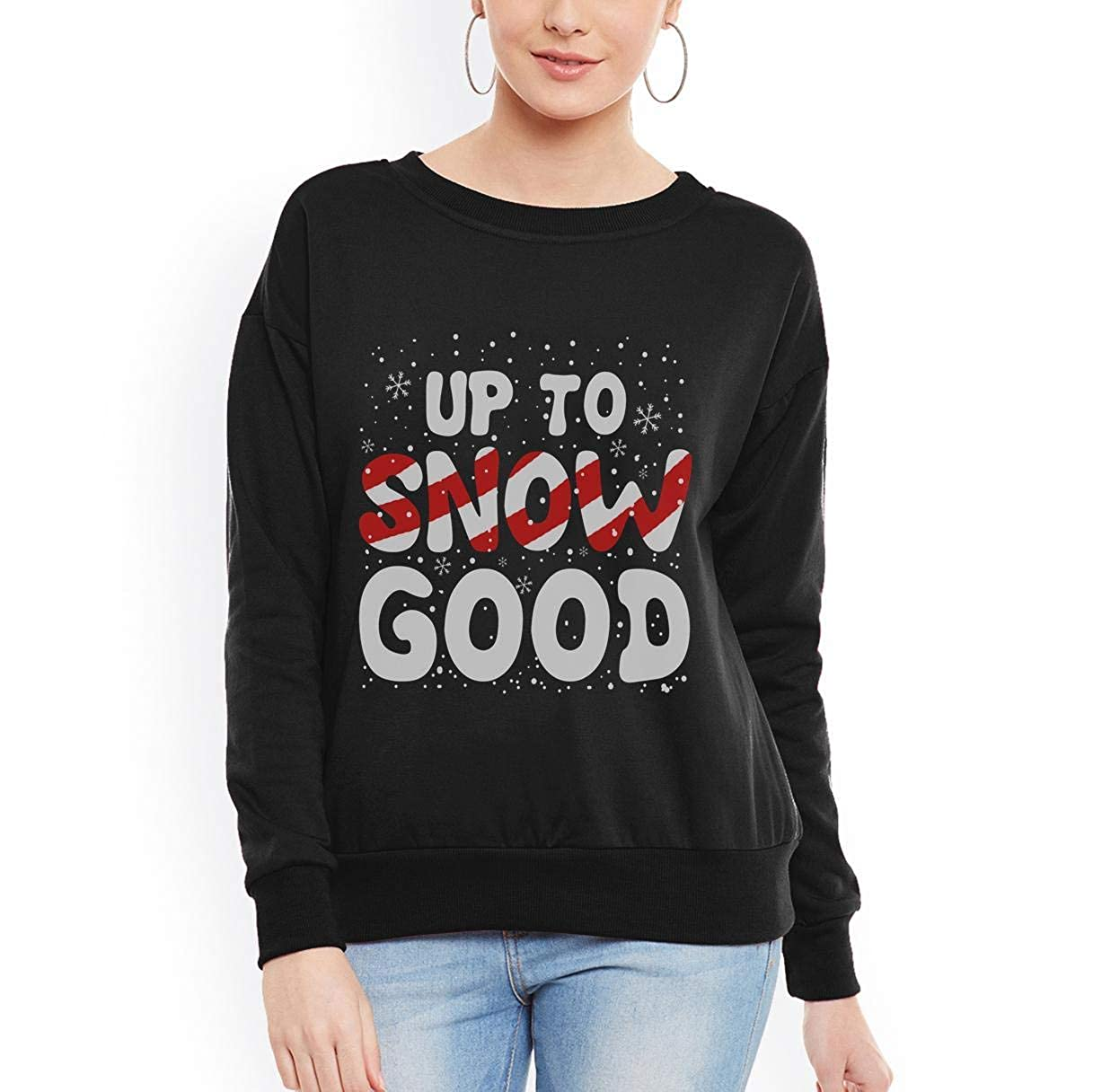 tee Up to Snow Good Funny Snowflakes Christmas Women Sweatshirt