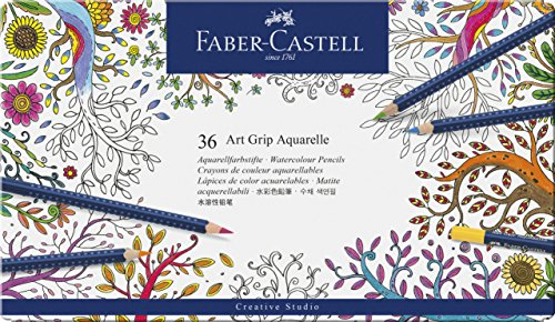 Faber-Castell Art GRIP Aquarelle Watercolor Pencils, tin of 36 Photo #8