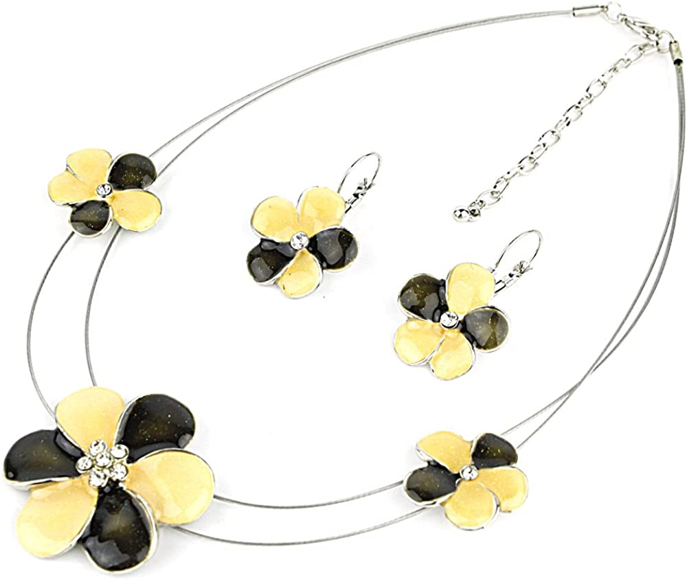 Amazon Com Quickpeter Epoxy Flower Necklace With Wire And