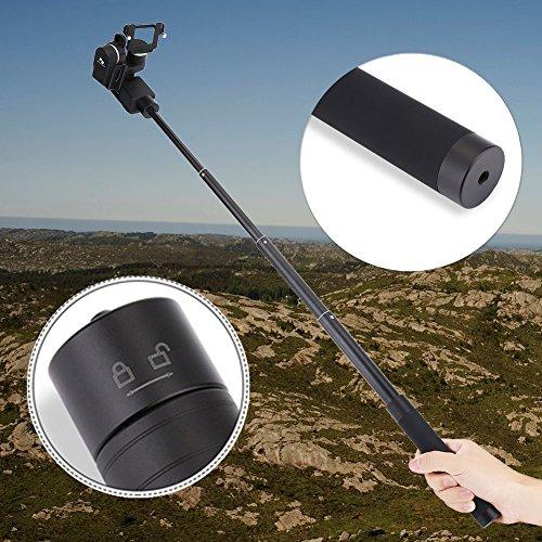 (Adjustable Extension Rod Reach Pole Handheld Gimbal Stabilizer Carbon Fiber Extension Pole Bar Telescopic Pole Monopod For Feiyu G5 WG2 SPG Stabilizer)