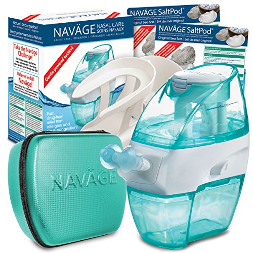 Navage Nasal Irrigation Deluxe Bundle: Naväge Nose Cleaner, 60 SaltPod Capsules, Countertop Caddy, and Travel Case. $160.75 if purchased separately. You save $40.80 (25%) by Navage (Image #9)