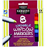 Sargent Art 22-1567 8-Count Washable Window Markers