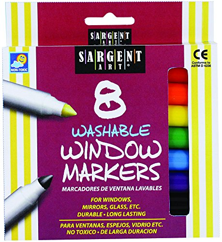 Window Crayons - Sargent Art 22-1567 8-Count Washable Window Markers