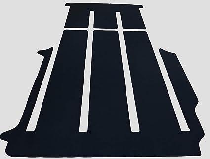Paillasson vw t4 2 places Noir Premium Velour De Qualité bordure gris