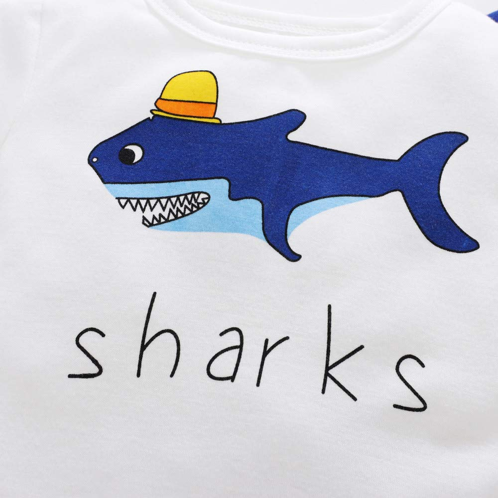 268735360c1930 Amazon.com: Yihaojia Toddler Kids Baby Boy Girl Letter Cute Shark Print  Long Sleeve T shirt Tops Winter Autume Cotton Clothes Outfit 12M-5T (age:  4-5 years ...