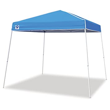 Amazon Com Z Shade  Angled Leg Instant Canopy Tent Portable Shelter Carolina Blue Garden Outdoor