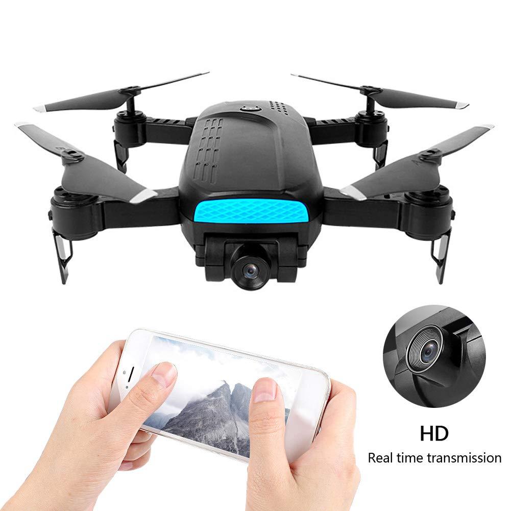 大人用カメラ付き折りたたみ式GPSドローン、WiFi FPVライブビデオ広角カメラ、およびGPS Return Home、15分の長飛行時間RCクアドコッパーヘリコプター B07SZ1B2HQ