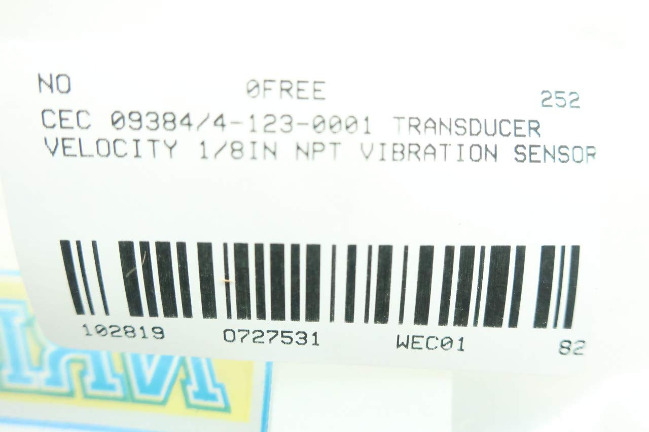 BELL /& HOWELL CEC 09384//4-123-0001 Vibration Velocity TRANSDUCER