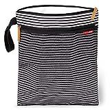 Skip Hop Waterproof Wet Dry Bag, Grab & Go, Black/White Stripe