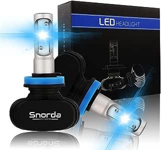 H4(9003 HB2) Snorda LED Headlights Bulbs Car Headlight ,8000LM,50w 6500K Cool White , IP68 Waterproof  LED Headlight Bulb -3 Year Warranty