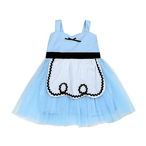 🍎 Niños traje Vestido de Princesa | Niñas de color liso ...
