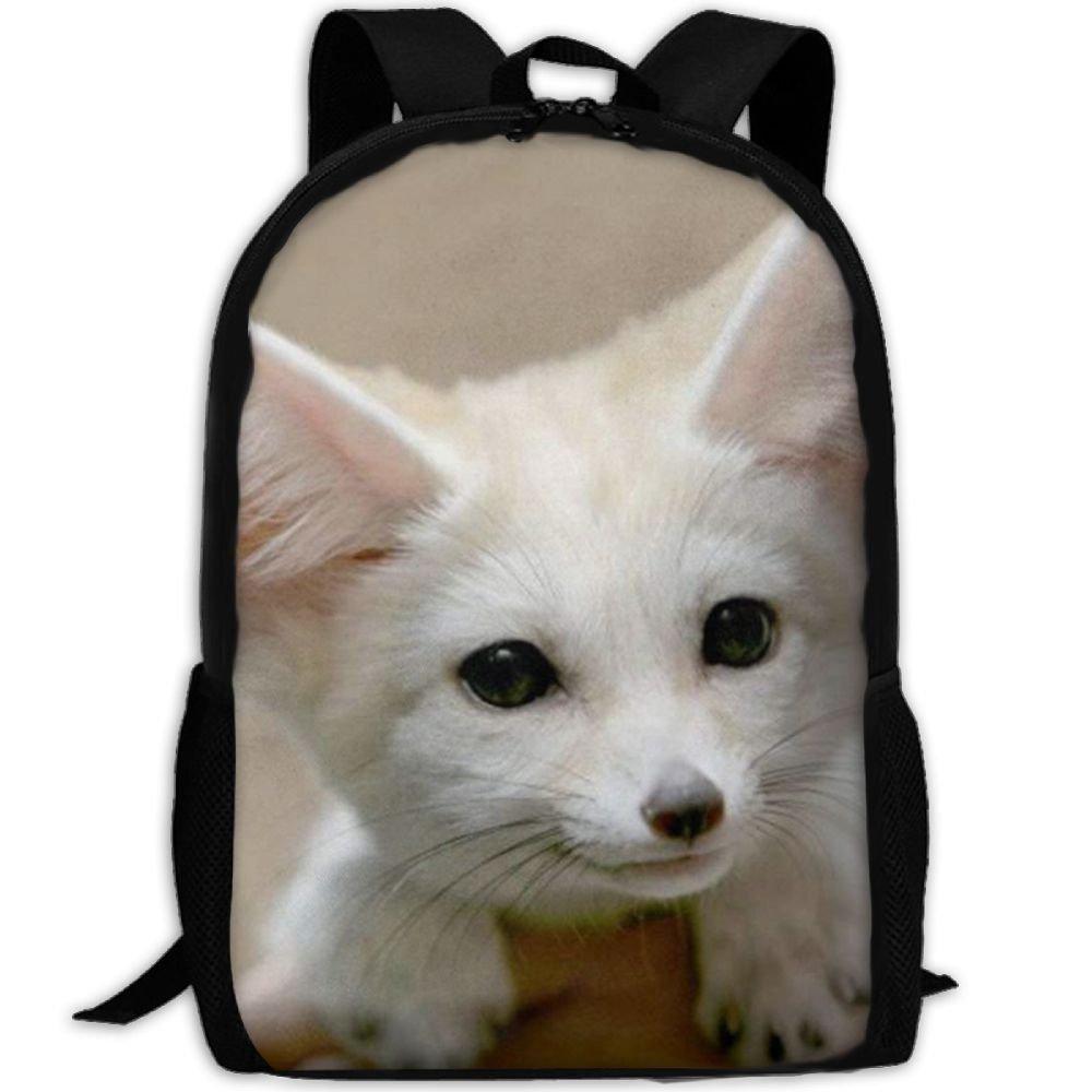JJHGNL Fennec Fox Unisex Print Backpack Canvas Bag School Student Bookbags Daypack Laptop