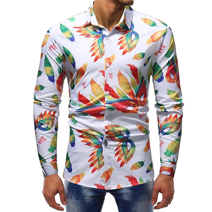 Camiseta Manga Larga Estampada Hombre, ♚ Absolute Blusa Estampada Moda Manga Larga Casual Camisas Delgadas Tops: Amazon.es: Ropa y accesorios