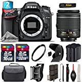 Holiday Saving Bundle for D7100 DSLR Camera + AF-P 18-55mm + 2yr Extended Warranty + 32GB Class 10 Memory Card + Backup Battery + 16GB Class 10 + Case + Tulip Lens Hood + UV - International Version