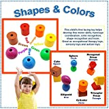 Skoolzy Lacing Beads for Kids Toddler Toy - JUMBO