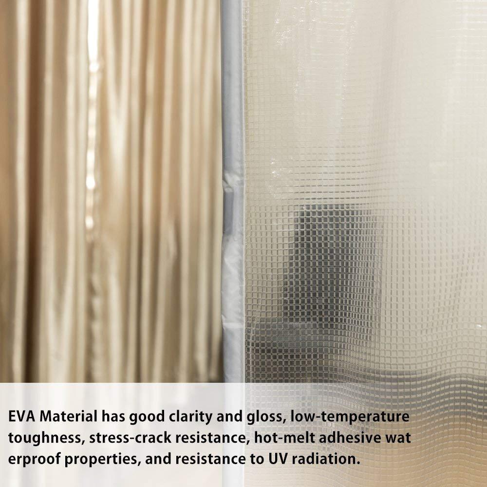Cortina de invierno transparente cortina para puerta protector de puerta magn/ético con aislante t/érmico cortina de puerta autom/ática 90X210cm disfrute del verano fresco y del c/álido invierno