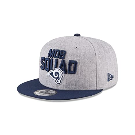Amazon.com  New Era Authentic Los Angeles Rams Heather Gray Navy 2018 NFL  Draft Official On-Stage 9FIFTY Snapback Adjustable Hat  Sports   Outdoors edcca8471