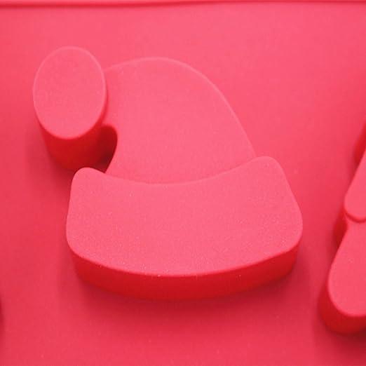 De galletas de Navidad - molde silicona moldes, fácil de usar (rojo, juego de 2): Amazon.es: Hogar