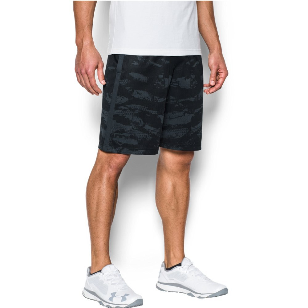 Under Armour Men's Baseball Training Shorts, Black/Stealth Gray, X-Large by Under Armour
