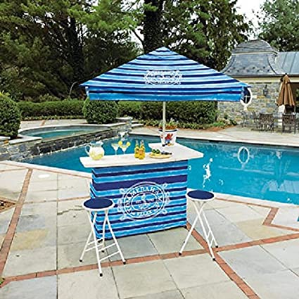 Amazon Com Tommy Bahama Outdoor Bar And Umbrella Set For Poolside