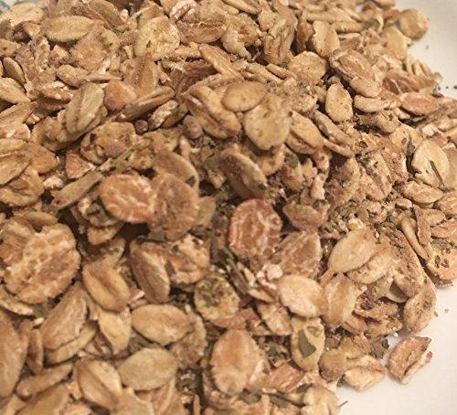 Oat Mix -- 4 oz (1/4 lb), 8 oz (1/2 lb), 16 oz (1 lb) Sizes -- 100% All Natural Organic Hermit Crab Food Mix Treat Rolled Oats, Rye, Barley, Pecan, Kelp, Parsley, Basil, Alfalfa (1 lb (16 oz))