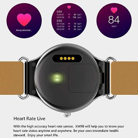 AIJIE Relojes Inteligentes, Reloj Inteligente Bluetooth KW98 ...