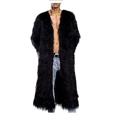 bieten Rabatte Gratisversand weit verbreitet Mantel Herren Pelz lang mit Manteltasche 5 Farbe Design ...