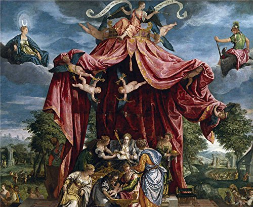 Oil Painting 'Parrasio Michele Alegoria Del Nacimiento Del Infante Don Fernando Hijo De Felipe II Ca. 1575' 18 x 22 inch / 46 x 56 cm , on High Definition HD canvas prints, Dining Room, Kitche (Michele Designer Necklace)