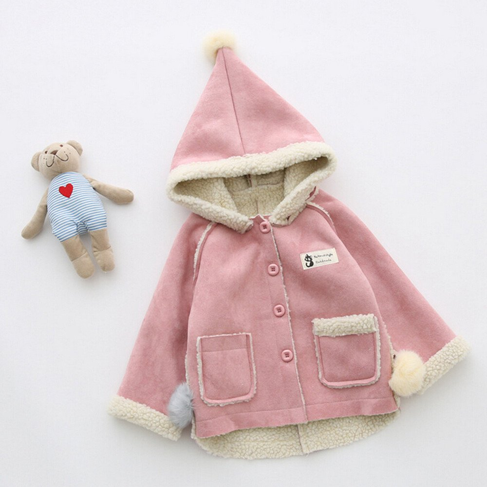 aa64b54f2 Amazon.com  Nevera Toddler Baby Girls Winter Warm Hooded Fleece ...