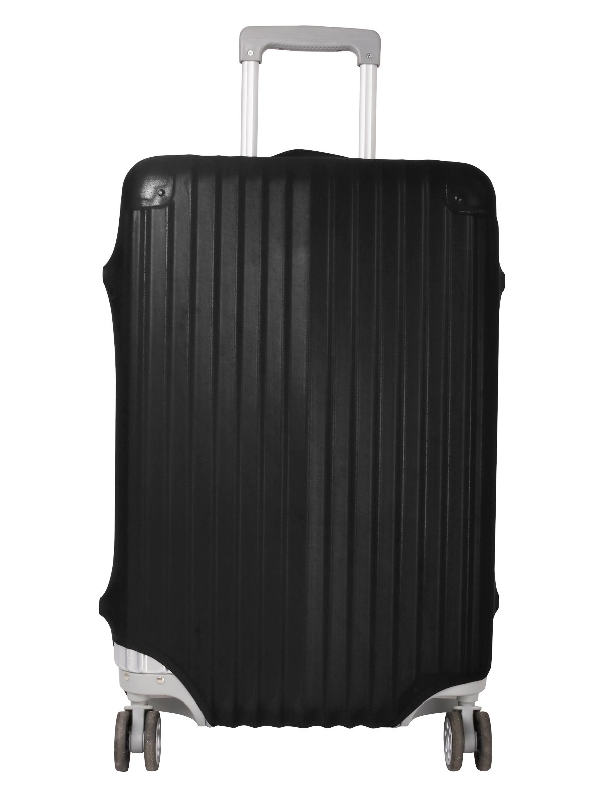 TiaoBug Anti-Scratch Travel Luggage Cover Suitcase Protector Fits 18-30 Inch Luggage (Large (Fits 26-30 Inch Luggage), Black)
