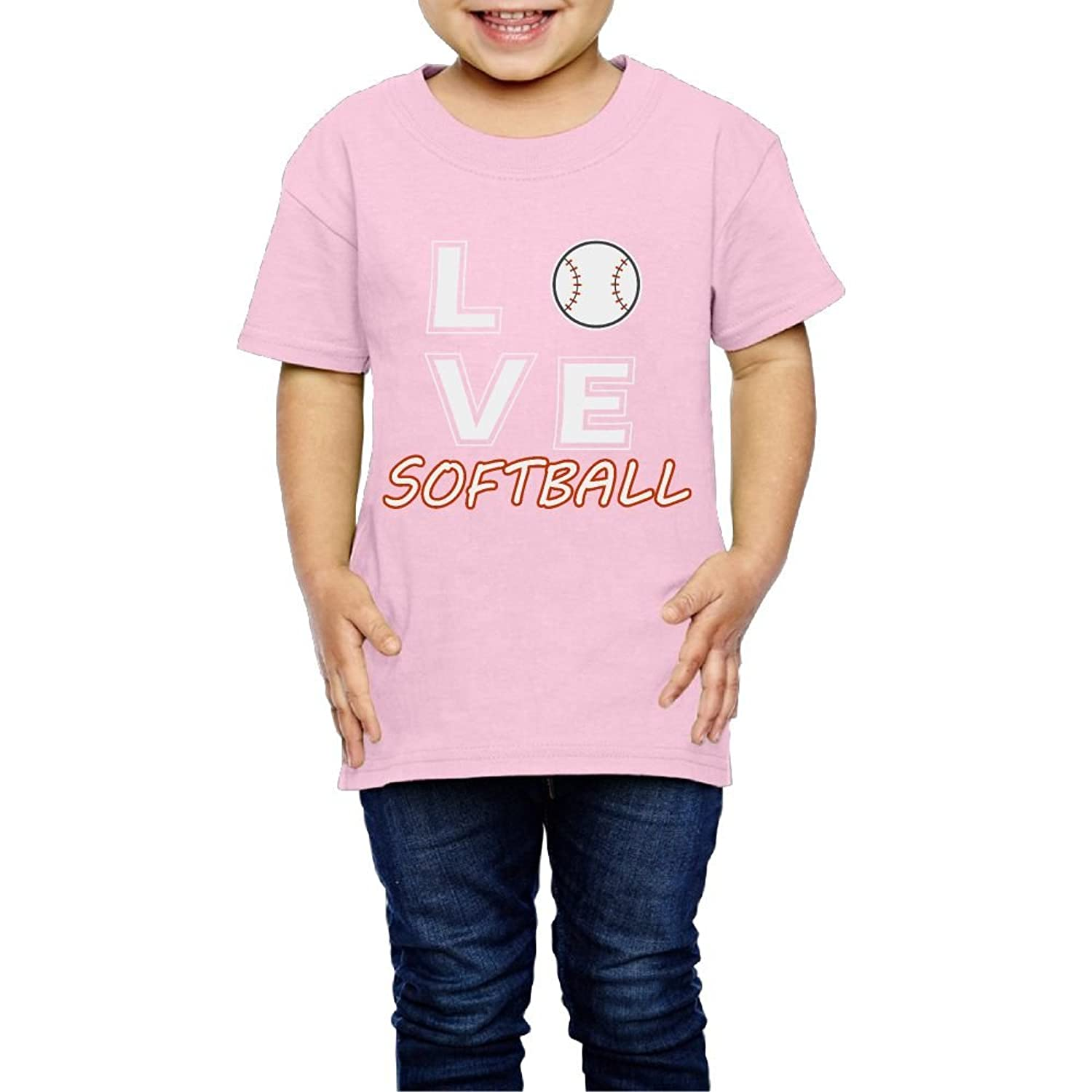 nice Tghhujffcbjj Boys Love Softball T Shirt Photoshoots Or Hiking Camping Travel Vacation T-Shirt Or Daily Wear Pink 3 Toddler get discount