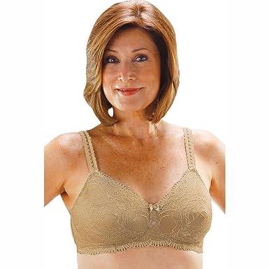 e21aecd02f277 Amazon.com  Post Mastectomy Lace All Over Bra  Clothing