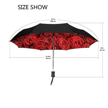 Amazon.com: yzgo exterior negro paraguas arco iris rosa flor ...