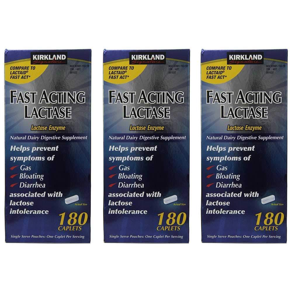 Kirkland Signature Fast Acting Lactase (3 Pack) by Kirkland Signature