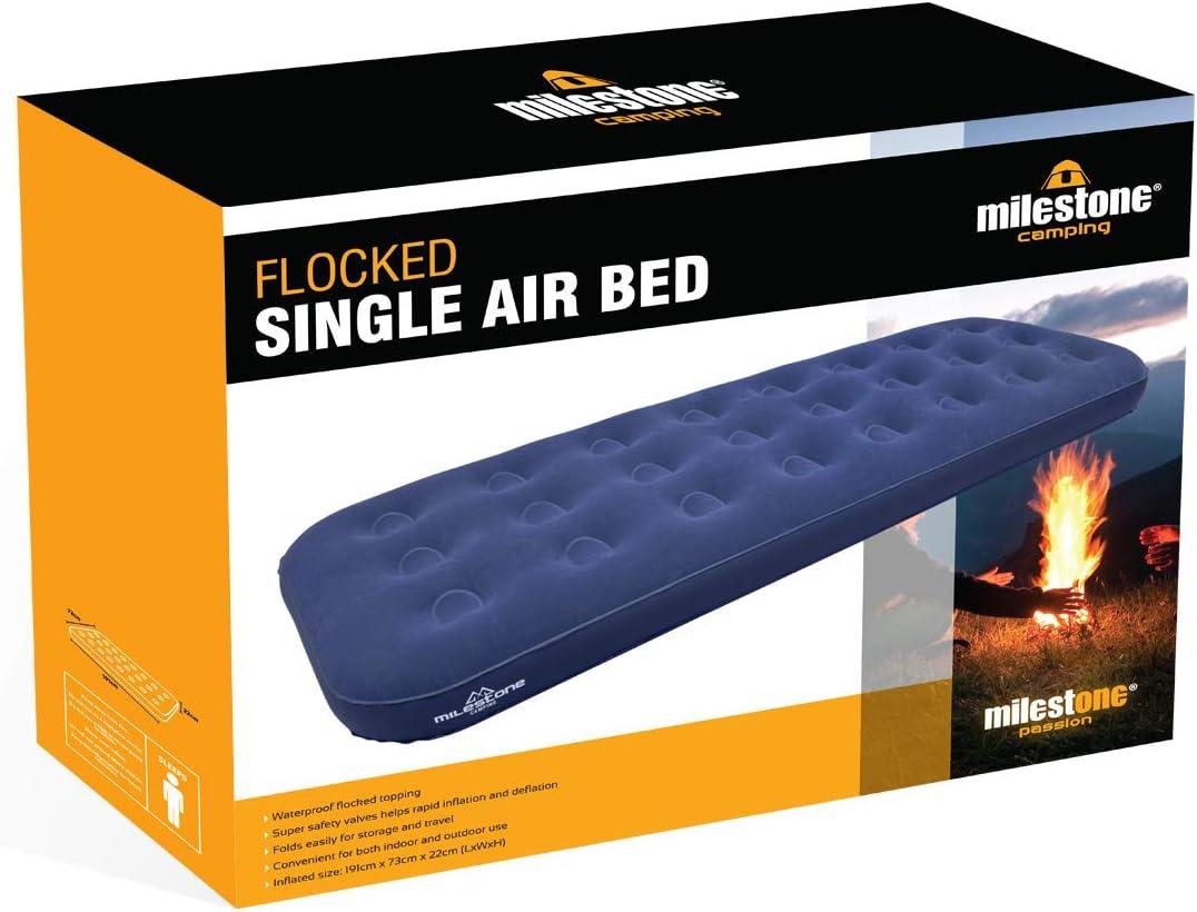 Amazon.com: Milestone Camping hinchable individual Flocked ...