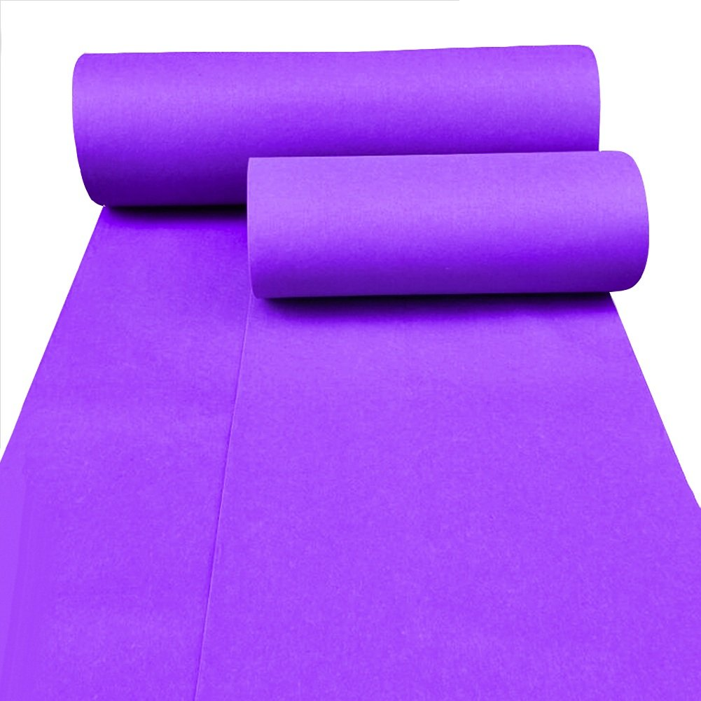 Jia He ウェディングランナー ウェディングカーペットパープルテーマ使い捨てロールカーペットの背景配置化学繊維/厚さ2mm / 5サイズ @@ (色 : Dark purple, サイズ さいず : 1.5m x 10m) 1.5m x 10m Dark purple B07QJ1H3B5