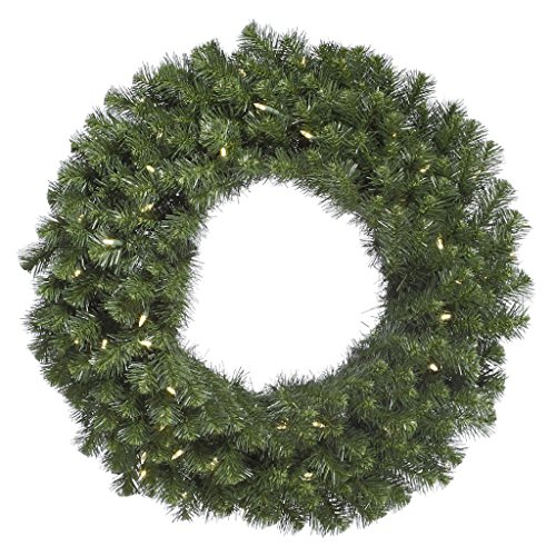 Vickerman 60'' Douglas Fir Wreath with 200 Warm White LED Lights by Vickerman