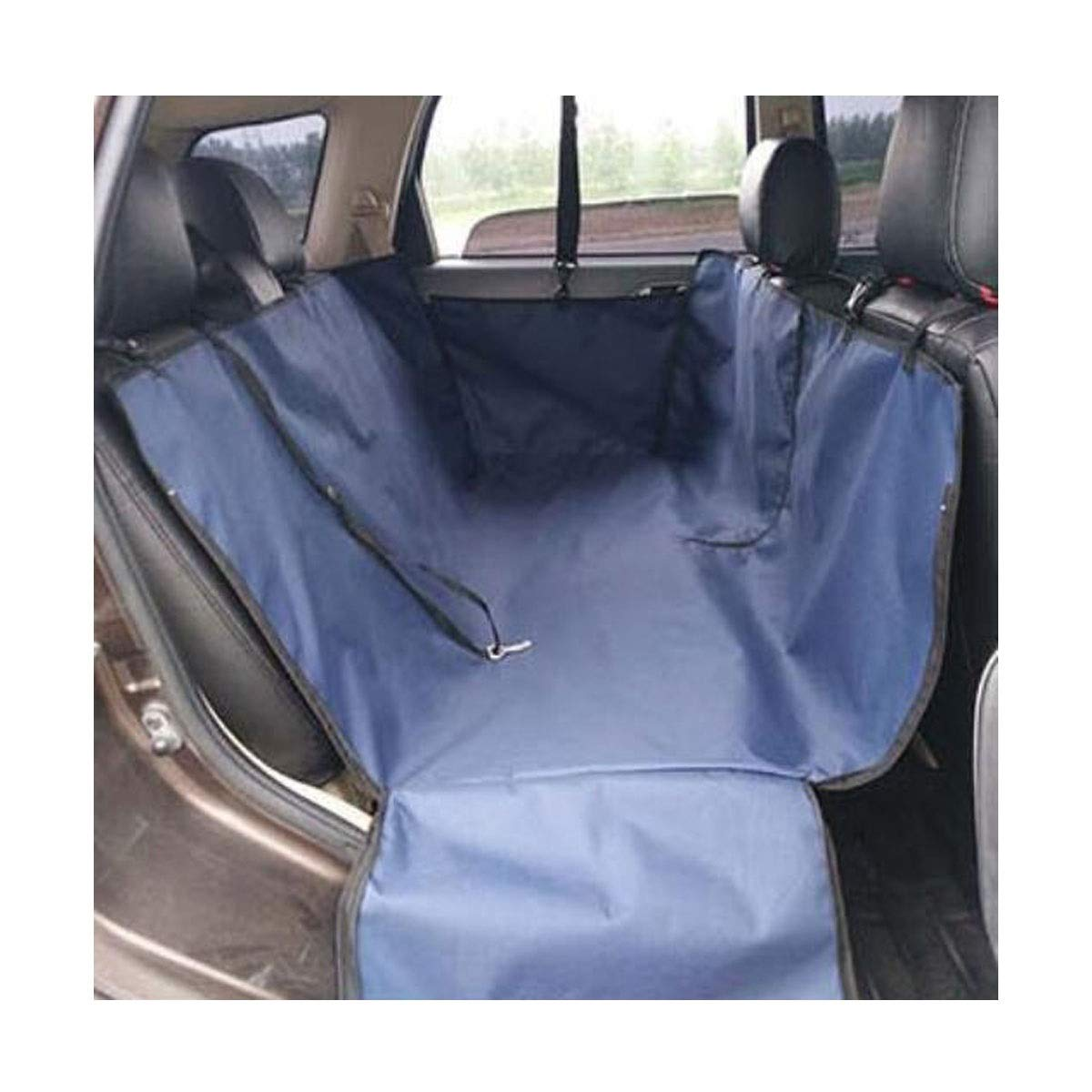 bluee 1304540 bluee 1304540 Jiansheng Dog Car Seat Cover, Dog Artifact Car Rear Seat Anti-dirty Safety Seat Hammock Heavy Duty Non-slip Waterproof, Brown 130  45  40cm (color   Dark bluee, Size   130  45  40)