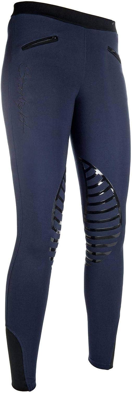 Pantalon - Femme HKM SPORTS EQUIPMENT Hkm Reitleggings -Starlight- Silikon-kniebesatz Leggings d/équitation Starlight avec basanes en Silicone