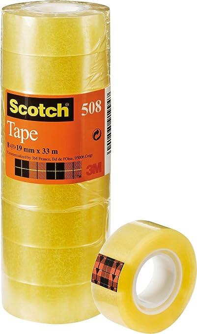 107 opinioni per Scotch 508 Nastro Adesivo, Trasparente Acrilico, 19 mm x 33 m, Confezione
