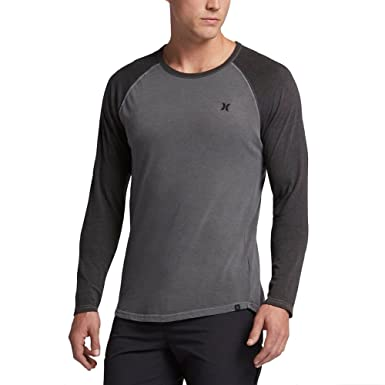 Hurley Yesterday Raglan Crew Men's Shirts Black