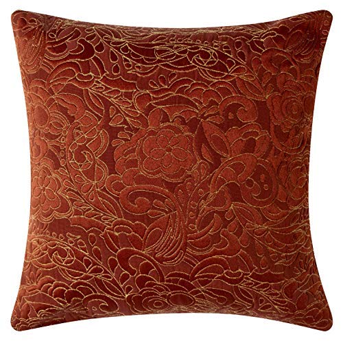 Pillow Pops  Blaze  Pillow:  I'm on Fire  Set High-End Rust Red Home Accent Décor Throw Bolster, Luxury Designer Upholstery Cushion 18x18x4 Inch Made in USA [並行輸入品] B07RBDLHR5