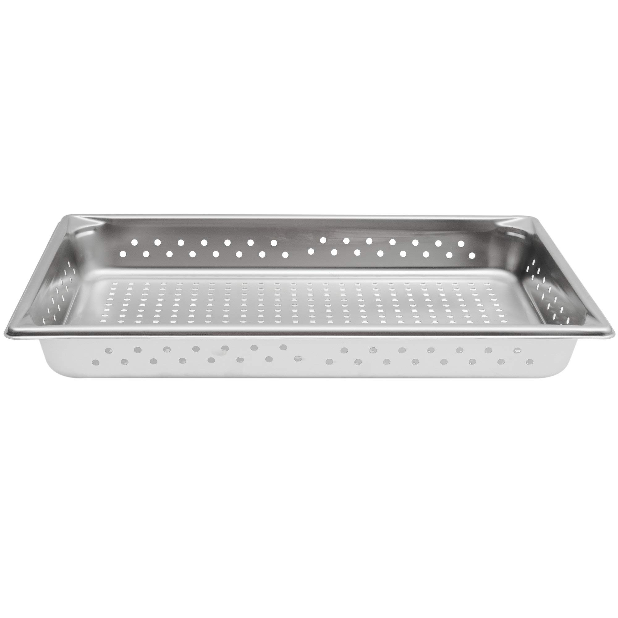 TableTop King 30023 Super Pan V Full Size Anti-Jam Stainless Steel Perforated Steam Table/Hotel Pan - 2 1/2'' Deep by TableTop King