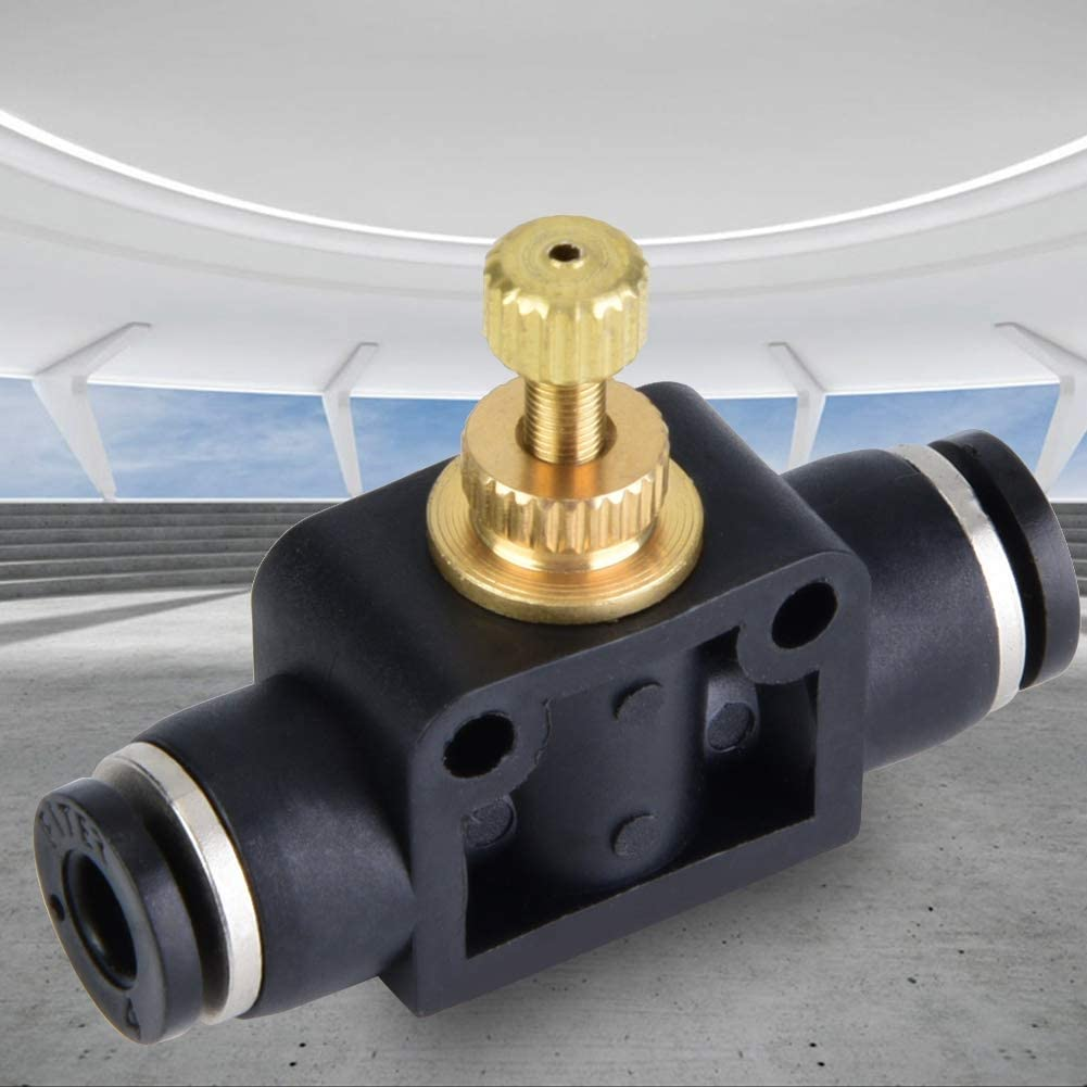 Pneumatic Fitting T Shape Pipe Pneumatic Fitting Connect Tube Air Flow Controller Regulator Valve 4mm
