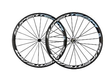 superteam 700 C clincher para rueda de bicicleta de fibra de carbono bicicleta de carretera ruedas 38 mm ud mate: Amazon.es: Deportes y aire libre