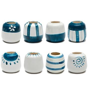 corasays 8 im Set 6,1 cm handgefertigt Mini handbemalt Keramik ...