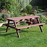 Chester A-Frame 6 Seater Wooden Picnic Table Bench 5ft 150cm - 6 Seater Wood Picnic Bench