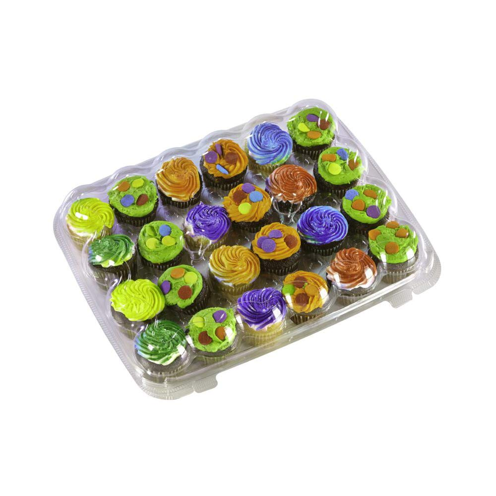 Inno-Pak KP224 24 count Mini Cupcake Container, 12.38' (Pack of 110) 12.38 (Pack of 110)