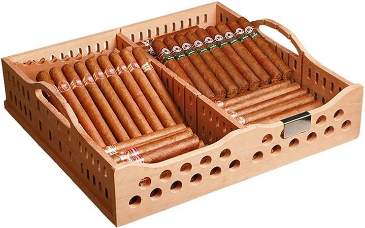 Beautiful home - tray Bandeja del gabinete del cigarro Bandeja de Madera del Estante de la Caja del Almacenamiento del cigarro con la manija-43 * 40.5 * 10CM: Amazon.es: Hogar